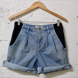 HELMUT LANG Contrast Trim Denim Shorts